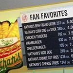 menu board with calories